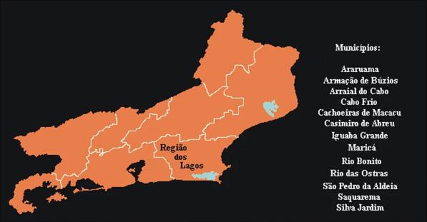MAPA DA REGIÃO DOS LAGOS