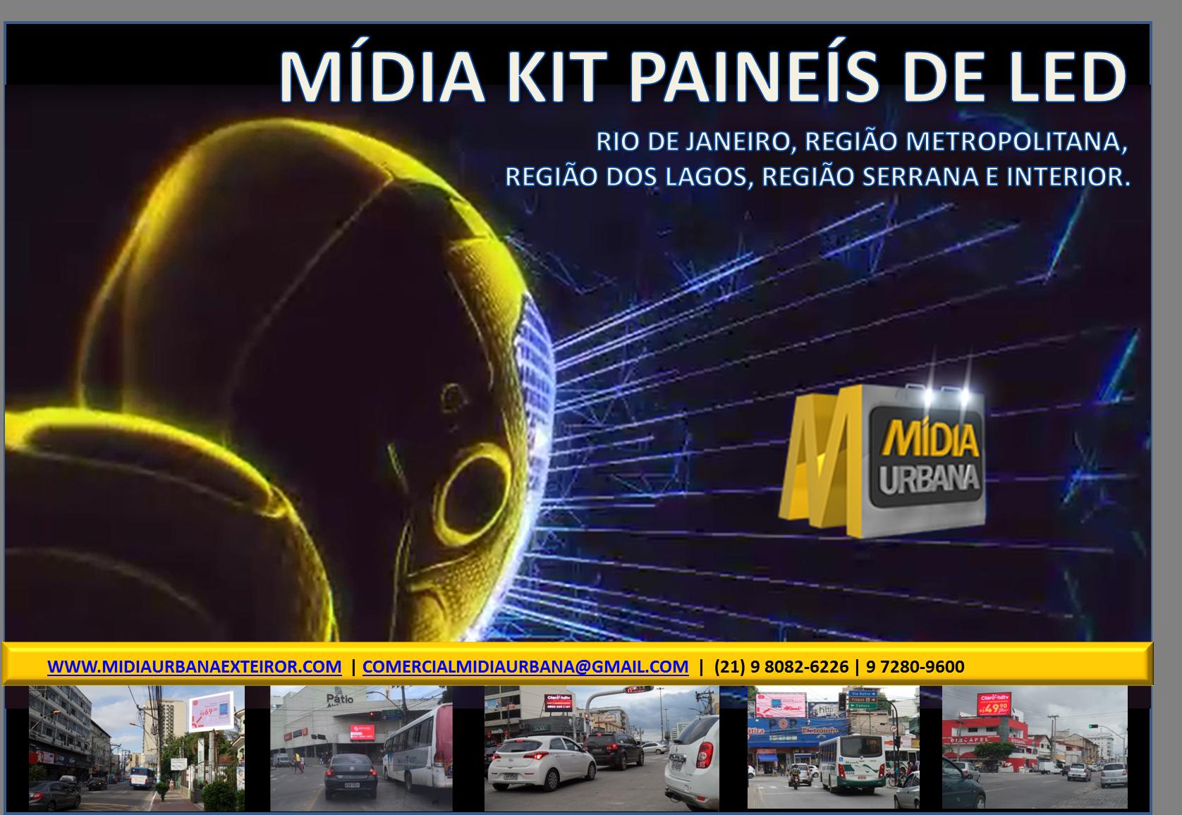 Mìdia Kit Painéis de Led Rio
