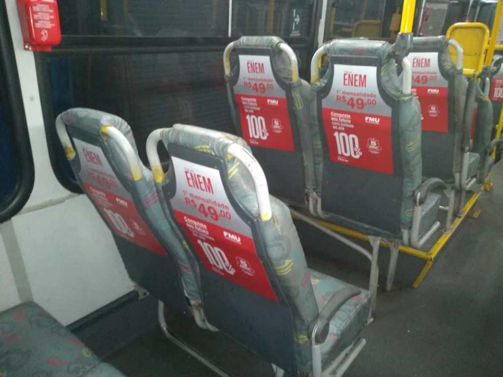 Indoor ônibus, back seat, cobertura Rio de Janeiro, Brasilia e demais capitais.
